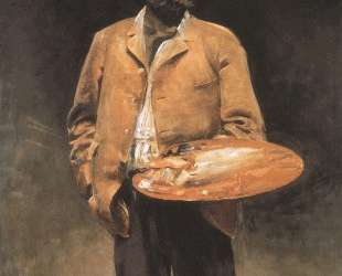 Self-portrait with palette — Яцек Мальчевский