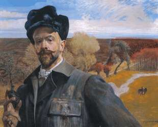 Self-portrait with Pisanka — Яцек Мальчевский
