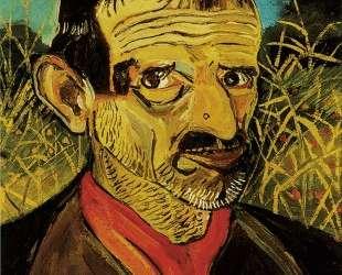 Self-Portrait with red scarf — Антонио Лигабуэ
