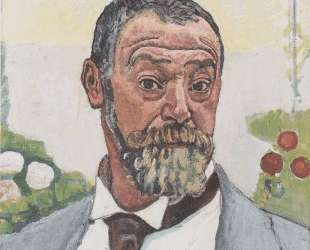 Self-portrait with roses — Фердинанд Ходлер