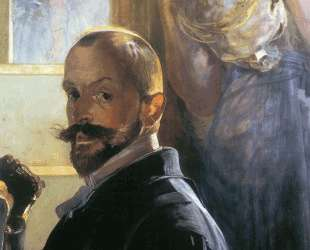 Self-portrait with skull — Яцек Мальчевский