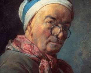 Self-Portrait with Spectacles — Жан Батист Симеон Шарден