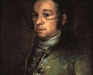 Self portrait with spectacles — Франсиско де Гойя