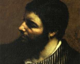 Автопортрет с полосатым воротником — Гюстав Курбе