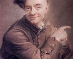 Self-Portrait with the bull's-eye — Морис Кантен де Латур