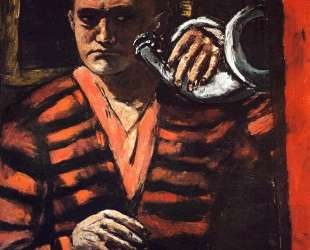 Self-Portrait with Trumpet — Макс Бекман