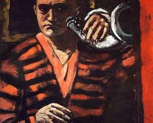 Self-Portrait with Trumpet — Макс Бекман
