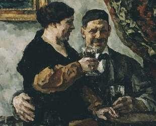 Автопортрет с женой — Пётр Кончаловский