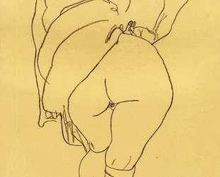 Semi Nude, Back View — Эгон Шиле