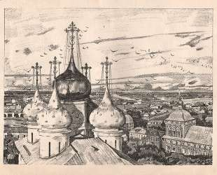 Sergiyev Posad. Domes and swallows — Константин Юон