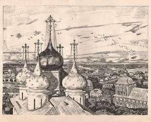 Sergiyev Posad. Domes and swallows — Константин Юон