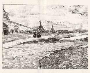 Sergiyev Posad. Empty Square — Константин Юон