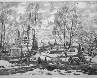Sergiyev Posad. March — Константин Юон