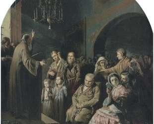Проповедь в селе — Василий Перов