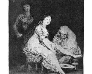 She prays for her — Франсиско де Гойя