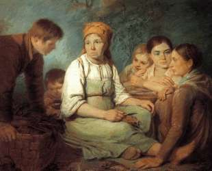 Shelling of beet — Алексей Венецианов