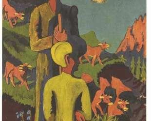 Shepherd in the evening — Эрнст Людвиг Кирхнер