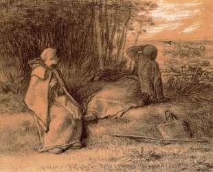 Пастушки в тени — Жан-Франсуа Милле