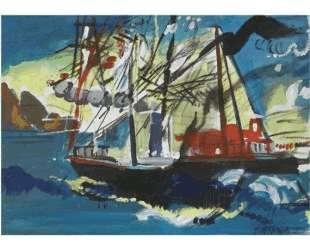 Ships in a Port — Димитрис Митарас