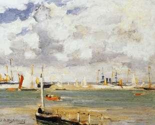 Ships in harbour — Иохан Хендрик Вейсенбрух