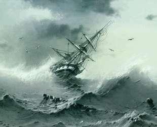 Тонущий корабль — Иван Айвазовский