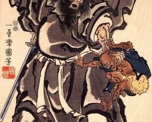 Shoki and Demon, Edo period — Утагава Куниёси