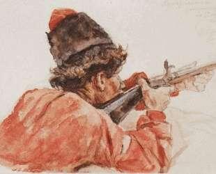 Стреляющий казак — Василий Суриков