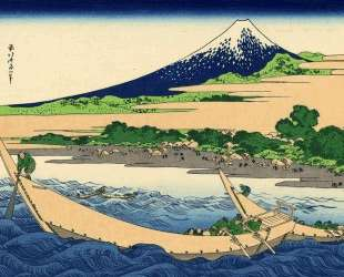 Shore of Tago Bay, Ejiri at Tokaido — Кацусика Хокусай