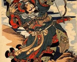 Shoriko kaei shooting a wild goose — Утагава Куниёси