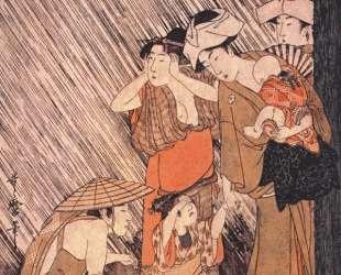 Shower — Китагава Утамаро