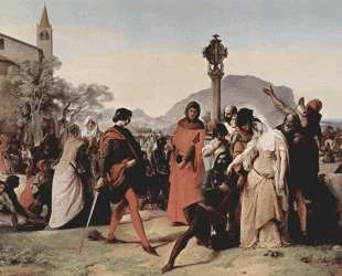 Sicilian evenings painting series, Scene 3 — Франческо Хайес