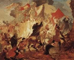 Осада Пскова польским королем Стефаном Баторием в 1581 году — Карл Брюллов