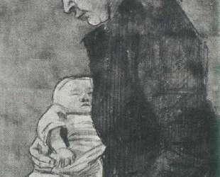 Sien Nursing Baby, Half-Figure — Винсент Ван Гог
