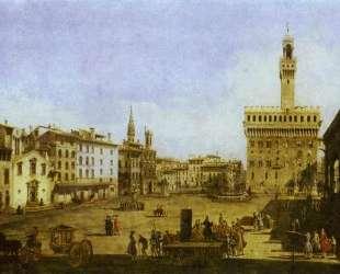 Signoria Square in Florence — Бернардо Беллотто
