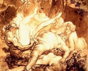 Силен, Сатир и вакханка — Карл Брюллов