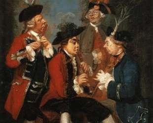Sir Thomas Kennedy, James Caulfeild, Mr. Ward and Mr. Phelps — Джошуа Рейнольдс