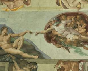 Sistine Chapel Ceiling: Creation of Adam — Микеланджело