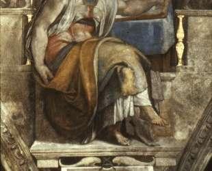 Sistine Chapel Ceiling: Sibyl Erithraea — Микеланджело