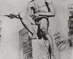 Сидящий натурщик (Натурщик-юноша) — Илья Репин
