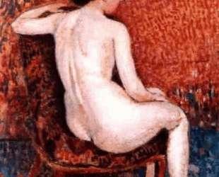Sitting Nude on Chair — Жорж Леммен