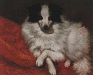 Собака на подушке — Гюстав Курбе