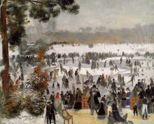 Skaters in the Bois de Boulogne — Пьер Огюст Ренуар