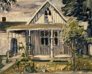 Sketch for house in American Gothic — Грант Вуд