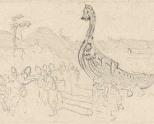 Sketch for 'Moving the Boats' — Николай Рерих