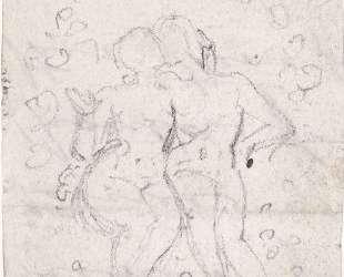Эскиз для картины 'Сатана подсматривает за Адамом и Евой' — Уильям Блейк