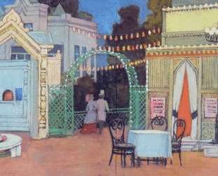Sketch for the play by Ostrovsky 'Mad Money'. In the Petrovsky Park — Константин Юон