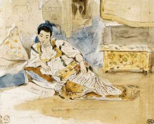 Набросок для картины 'Женщины Алжира' — Эжен Делакруа
