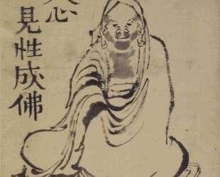Sketch of Daruma — Кацусика Хокусай