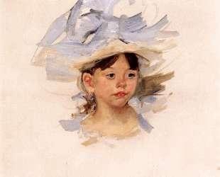 Эскиз для 'Эллен М. Кассат в синей шляпе' — Мэри Кассат