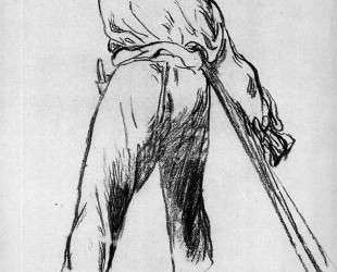 Sketch of moving farmer — Эдуард Мане